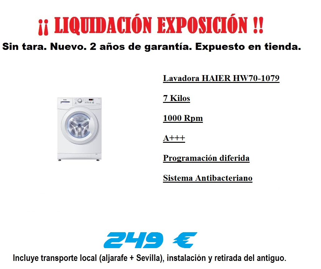 Liquidacion HAIER